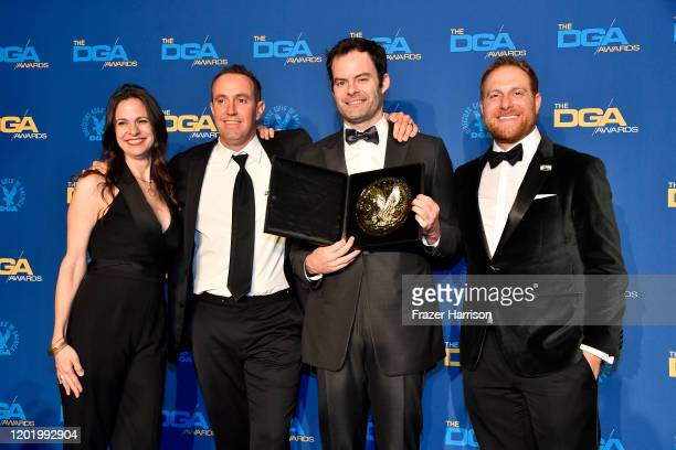 Comedy Series Award winners for 'Barry' pose in the press room during the 72nd Annual Directors Guild Of America Awards at The Ritz Carlton on...