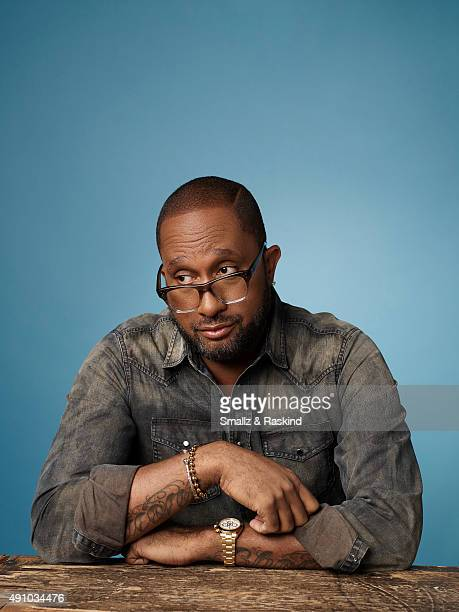 Comedy showrunner Kenya Barris is photographed for The Hollywood Reporter on April 15 2015 in Los Angeles California