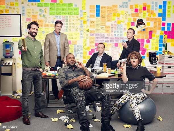 Comedy showrunners Jay Duplass Steven Levitan Kenya Barris Robert Carlock Alec Berg and Jill Soloway are photographed for The Hollywood Reporter on...