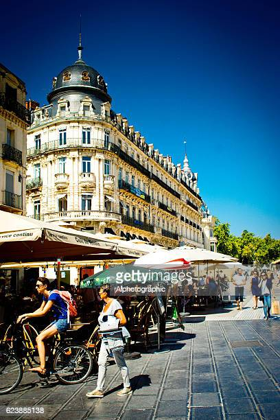 plaza de la comedia montpellier - montpellier stock pictures, royalty-free photos & images