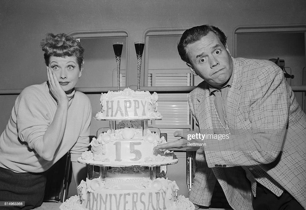 Comedy Stars Lucille Ball And Desi Arnaz Look As If They Cant Believe Its