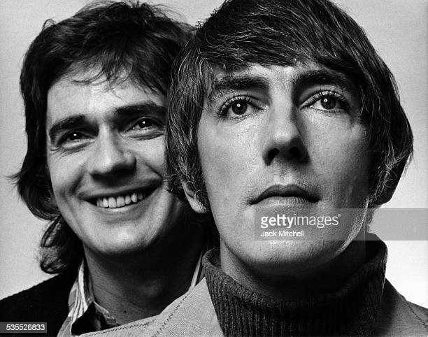 Comedy team Dudley Moore and Peter Cook photographed in 1973