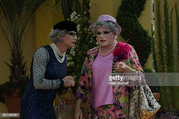 ComedyDuo Herta und Berta alias Joy Peters und Chris Kolonko ARDShow Immer wieder Sonntags EuropaPark Rust BadenWürttemberg Deutschland Europa...