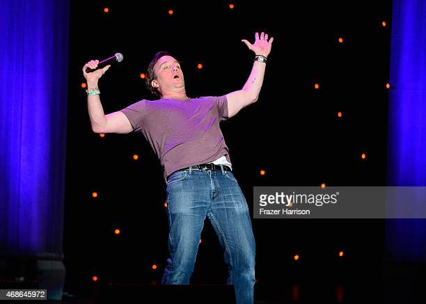 Comeidan Jay Mohr performs at KROQ Presents Kevin Bean's April Foolishness at The Shrine Auditorium on April 4 2015 in Los Angeles California
