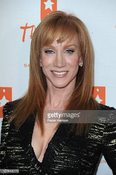 Comeidan Kathy Griffin arrives at the The Gibson Amphitheatre At Universal City Walk where she performed in aid of The Trevor Project on December 16...