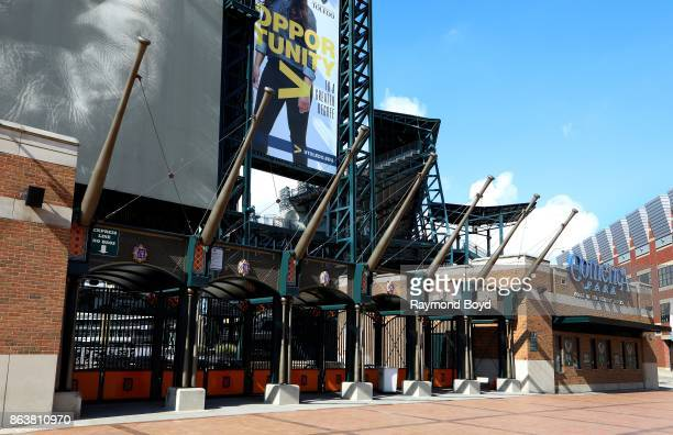 Comerica Park home of the Detroit Tigers baseball team in Detroit Michigan on October 13 2017