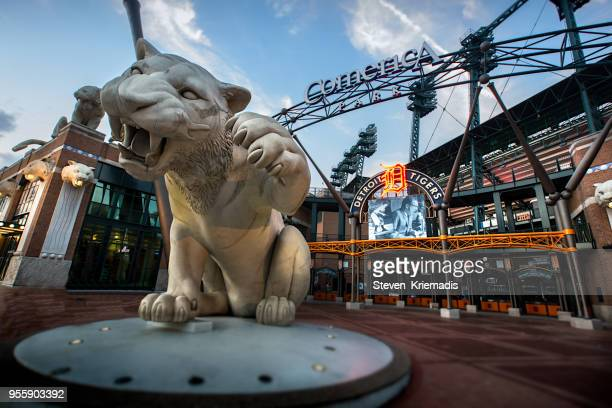 comerica park in detroit, michigan - detroit michigan stock pictures, royalty-free photos & images
