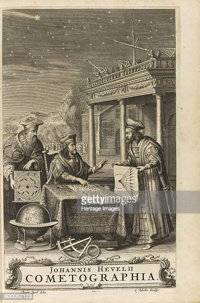 Cometographia Frontispiece 1668 Private Collection Artist Hevelius Johannes