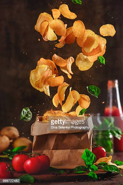 Comfort food: flying chips tornado