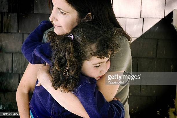 comfort - depressed mother stock pictures, royalty-free photos & images