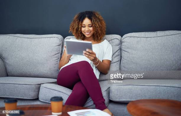 Comfortability inspires her productivity