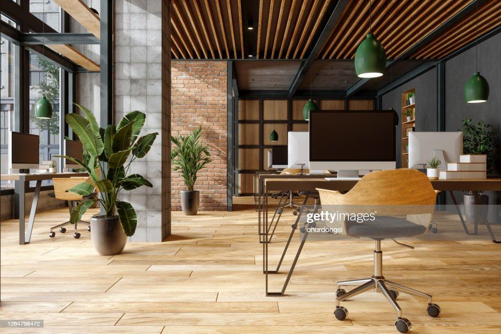 Cómodo espacio de co-working. : Foto de stock