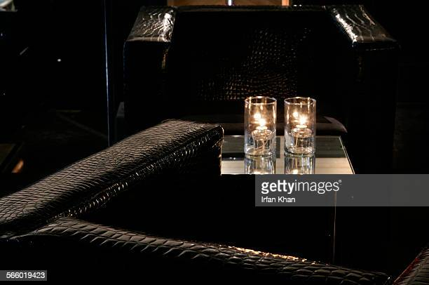 Comfortable leather couches adorn a section of My House a new club designed by world–renowned designer Dodd Mitchell in Hollywood The club is...