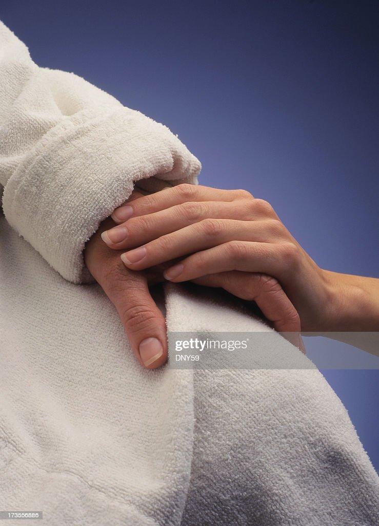 Comforting Hand : Stock Photo