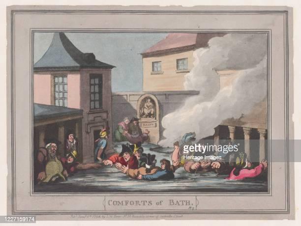 Comforts of Bath, Plate 7, January 6, 1798. Artist Thomas Rowlandson.