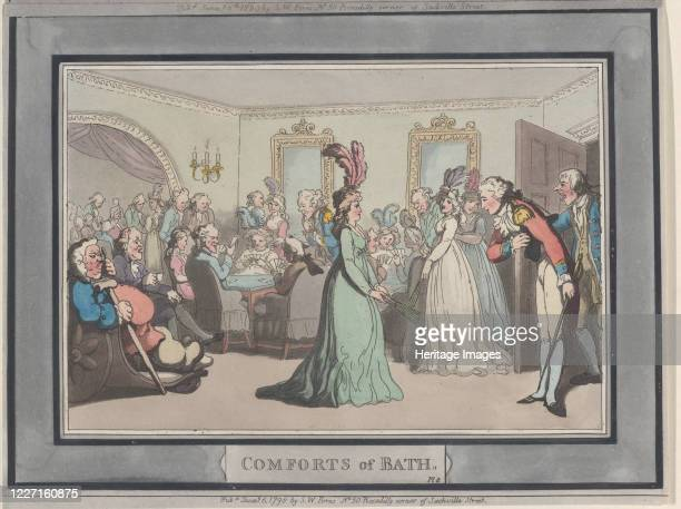 Comforts of Bath, Plate 8, January 6, 1798. Artist Thomas Rowlandson.