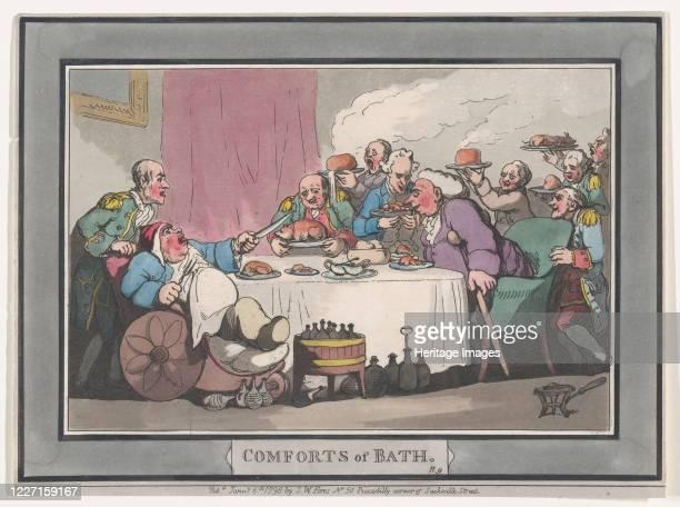 Comforts of Bath Plate 9 January 6 1798 Artist Thomas Rowlandson