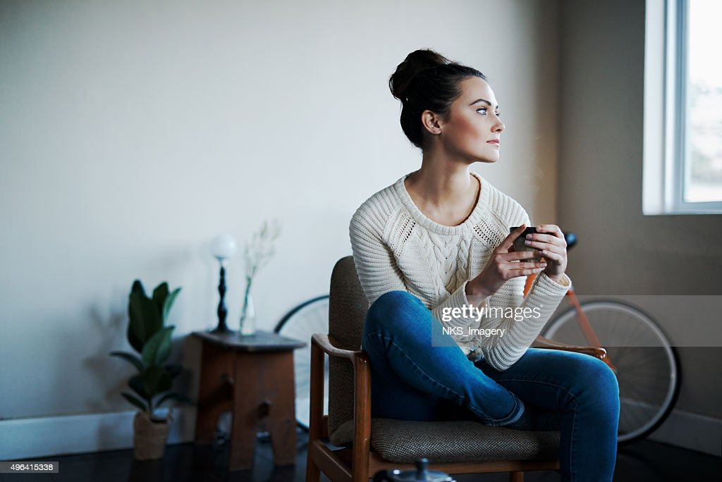 Comfy with some coffee : Stock Photo