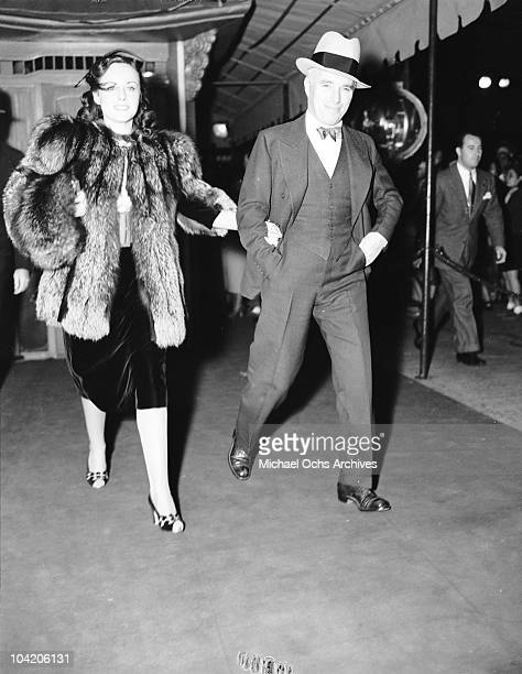Comic actor Charlie Chaplin with American actress Paulette Goddard circa 1935