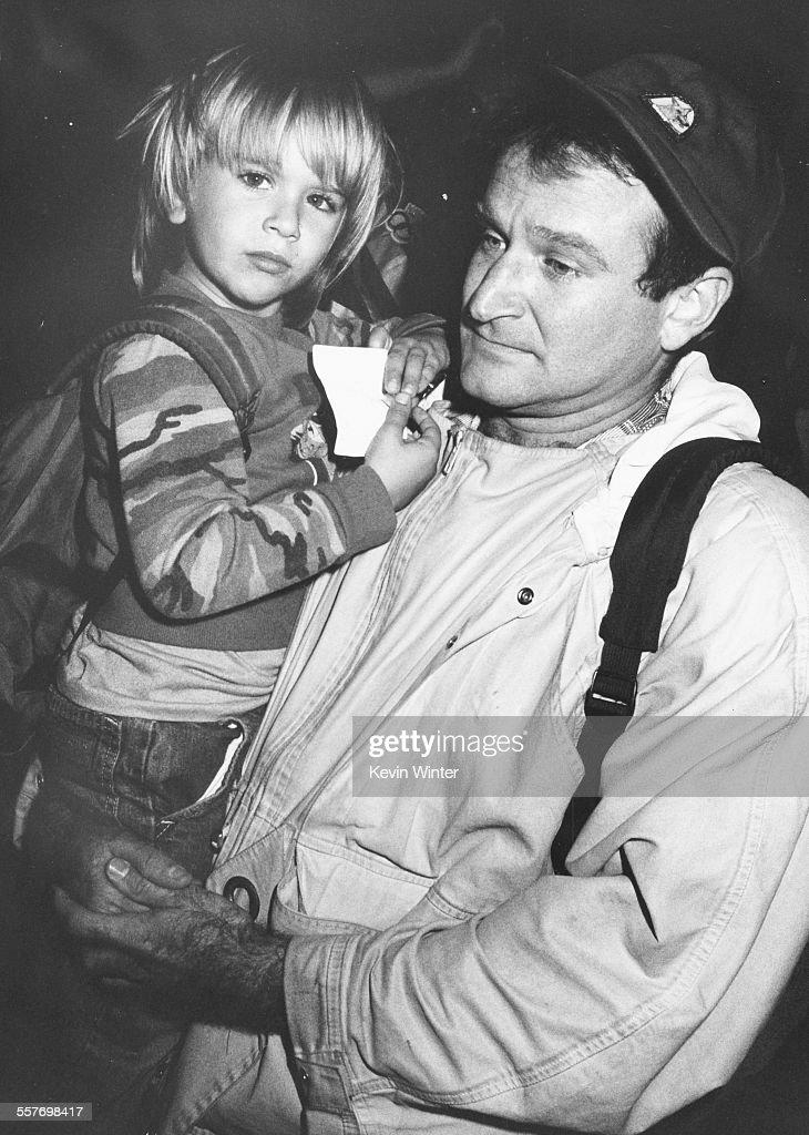 Robin Williams And Son : News Photo