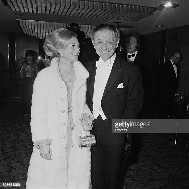 Comic actor Sid James and his wife Valerie at the premiere of the film 'Love Story' at the Odeon Leicester Square London 8th March 1971 They play the...