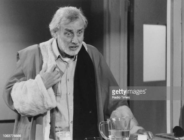 Comic actor Spike Milligan in a sketch for the television show 'Q9' September 28th 1979