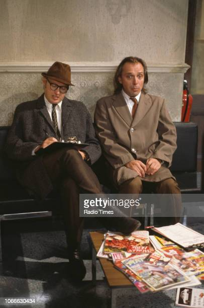 Comic actors Adrian Edmondson and Rik Mayall in a scene from episode 'Digger' of the BBC television sitcom 'Bottom' July 17th 1992