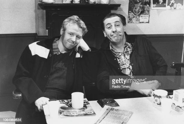Comic actors Les Dennis and Dustin Gee in a scene from the comedy sketch series 'The Laughter Show' November 1st 1984 First printed in Radio Times...