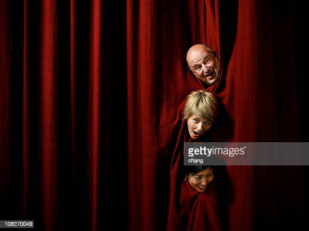 comic actors - stage curtain stock pictures, royalty-free photos & images