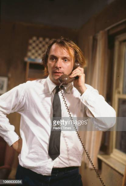 Comic actors Rik Mayall Adrian Edmondson and Mark Lambert in a scene from episode 'Gas' of the BBC television sitcom 'Bottom' July 5th 1991