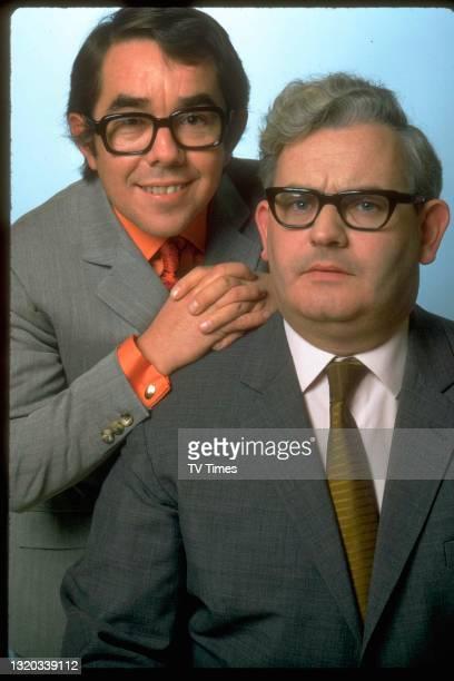 Comic actors Ronnie Barker and Ronnie Corbett, circa 1969.