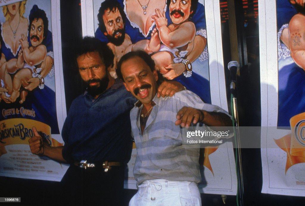 Cheech & Chong at 'Corsican Brothers' Premiere, 1984. : News Photo