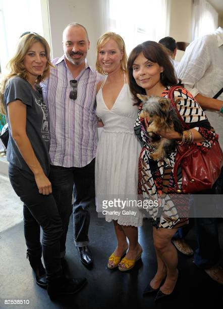 Comic actress Amy Dresner CEO of Wonderland Center Andrew Spanswick Los Angeles Confidential Magazine Executive Editor Lara Morgenson and journalist...