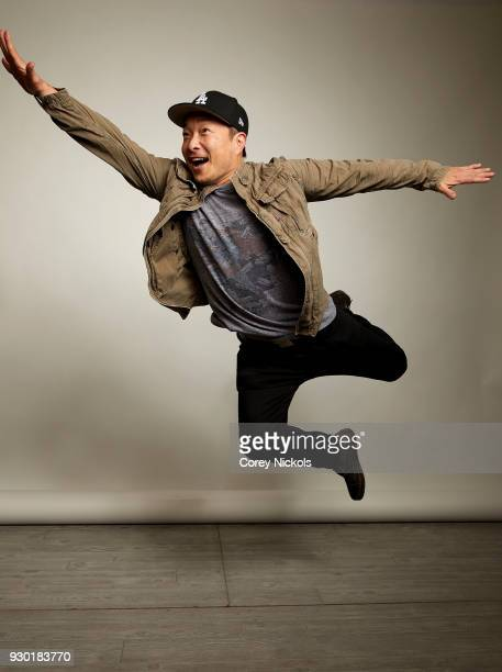 Comic Book Artist Jim Lee from 'Superman 80th Anniversary' poses for a portrait in the Getty Images Portrait Studio Powered by Pizza Hut at the 2018...