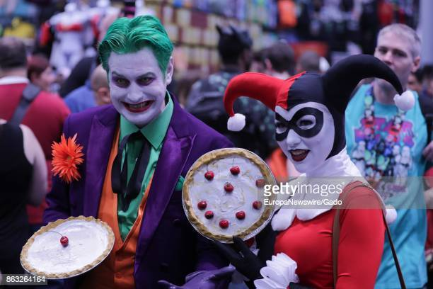 Comic book fans dressed as joker characters during New York Comic Con at the Jacob Javits Convention Center in New York City, New York, October 5,...