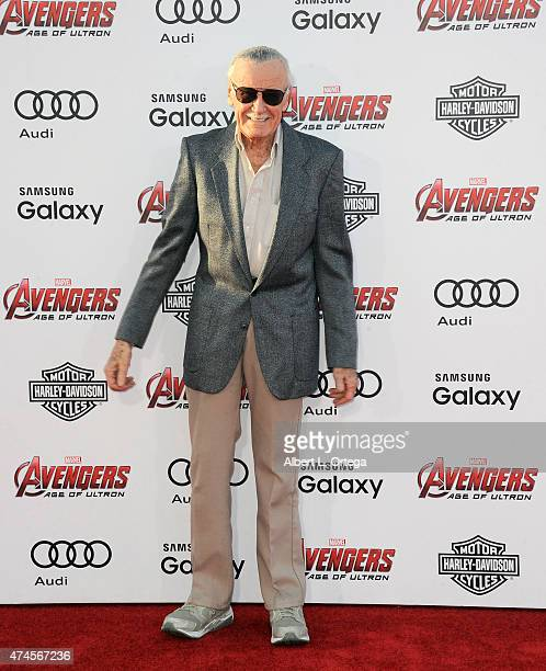Comic book Icon Stan Lee arrives for the Premiere Of Marvel's 'Avengers Age Of Ultron' held at Dolby Theatre on April 13 2015 in Hollywood California