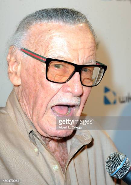 Comic Book Icon Stan Lee arrives for the Wikipad OnLive E3 Party held at Elevate Lounge on June 11 2014 in Los Angeles California