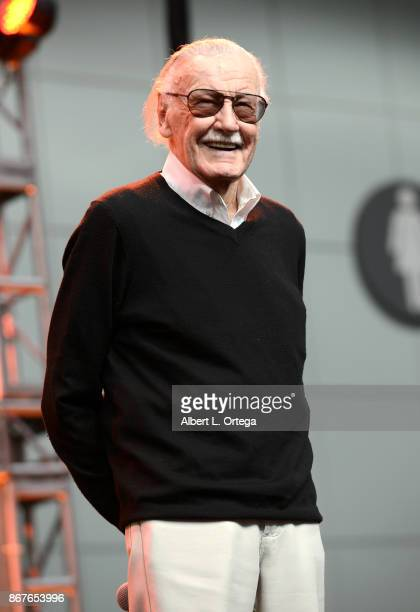 Comic Book Icon Stan Lee on day 2 of Stan Lee's Los Angeles Comic Con 2017 held at Los Angeles Convention Center on October 28 2017 in Los Angeles...