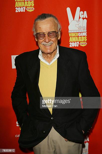 Comic book legend Stan Lee arrives at Spike TV's 5th Annual Video Game Awards held at Mandalay Bay Events Center on December 7 2007 in Las Vegas...