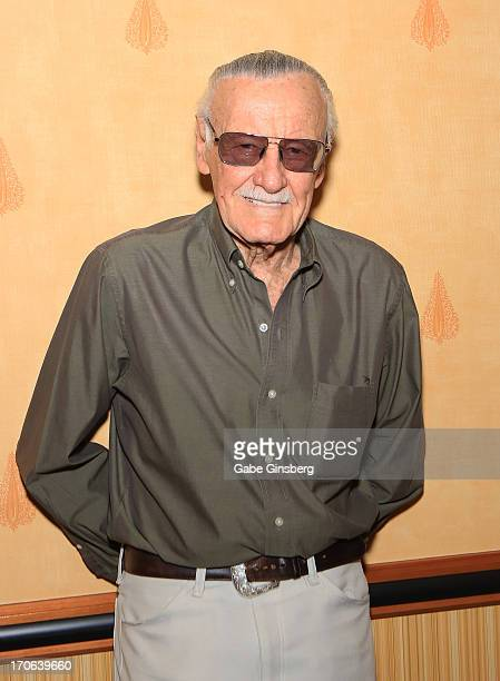 Comic book legend Stan Lee attends the Amazing Las Vegas Comic Con at the South Point Hotel Casino on June 15 2013 in Las Vegas Nevada