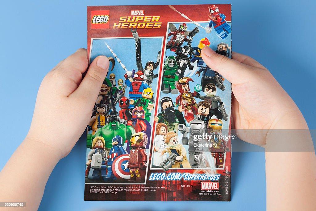 Comic book Lego Marvel Super Heroes : Stock Photo