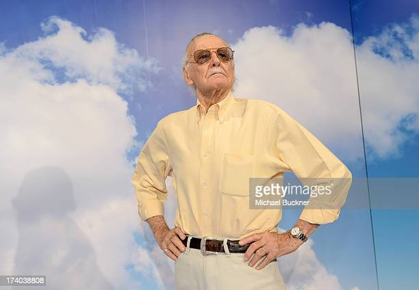 Comic book writer Stan Lee attends Day 2 of The Samsung Galaxy Experience on July 19 2013 in San Diego California