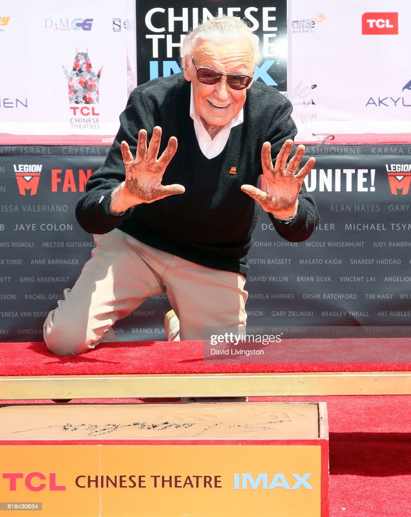 Stan Lee Hand And Footprint Ceremony