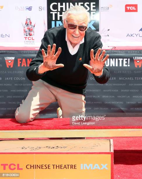 Comic book writer Stan Lee attends his Hand and Footprint Ceremony at TCL Chinese Theatre IMAX on July 18 2017 in Hollywood California