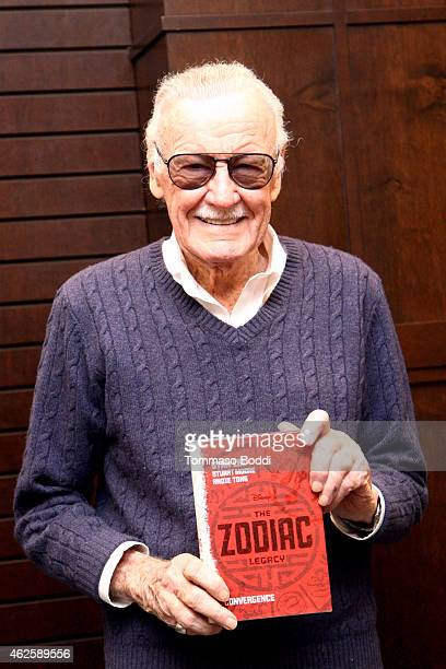 Comic Book Writer Stan Lee discusses 'Convergence' at Barnes Noble bookstore at The Grove on January 31 2015 in Los Angeles California