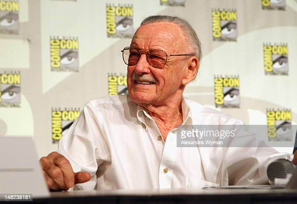 Comic book writer/actor/producer Stan Lee speaks at Stan Lee's World Of Heroes Panel Discussion during ComicCon International 2012 at San Diego...