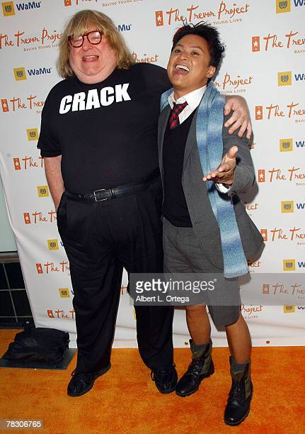 Comic Bruce Vilanch and actor Alec Mapa arrive at Cracked Xmas 10 to benefit The Trevor Project at Wiltern Theater on December 2 2007 in Los Angeles...