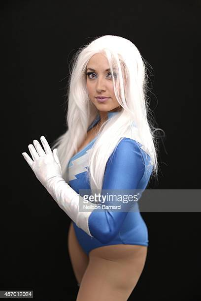 Comic Con attendee Jessica Caamano poses as Quicksilver during the 2014 New York Comic Con at Jacob Javitz Center on October 10 2014 in New York City