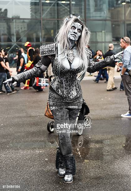 Comic Con attendee poses as a White Walker from Game of Thrones during the 2016 New York Comic Con Day 3 on October 8 2016 in New York City
