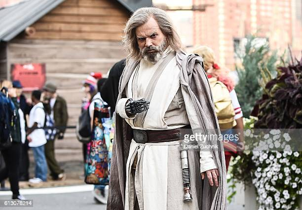 Comic Con attendee poses as Luke Skywalker from Star Wars during 2016 New York Comic Con - Day 1 on October 6, 2016 in New York City.